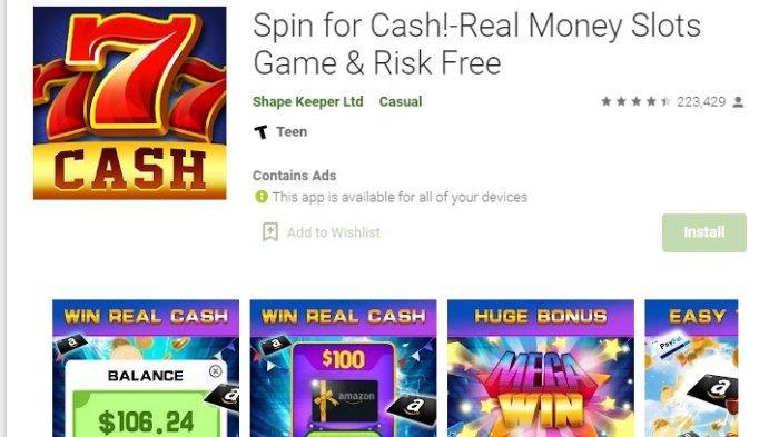Aplikasi Penghasil Uang Spin For Cash, Aman atau Penipuan? Ini Penjelasannya