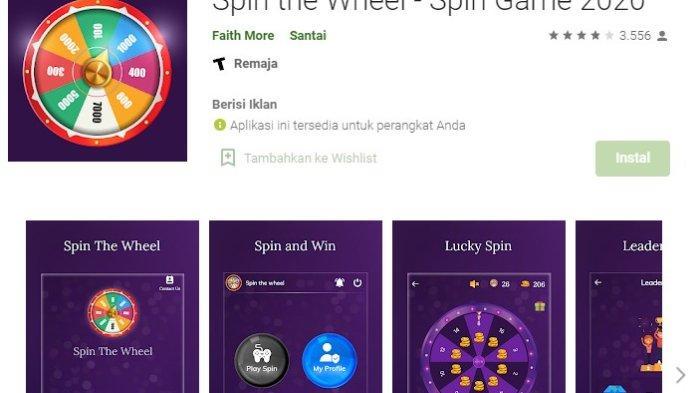 Aplikasi Penghasil Uang Spin The Wheel, Mainkan Roda Angka Cuan Langsung Masuk DANA