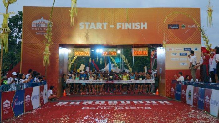 Pelari Asal Kenya Dominasi Gelar Juara di Borobudur Marathon 2018