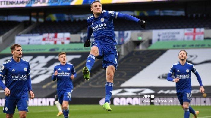 Hasil, Klasemen, Top Skor dan Live Streaming Liga Inggris, Leicester Menang, Vardy Buka Puasa Gol