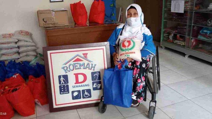 Peduli Kaum Difabel, Komunitas Honda Rebel dan Honda Big Bike Jawa Tengah Sumbang 50 Kg Beras