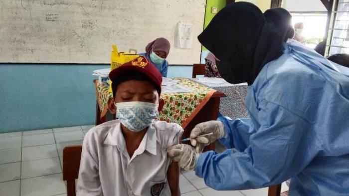 Pemkot Tegal Mulai Vaksinasi Siswa SD Umur 12 Tahun