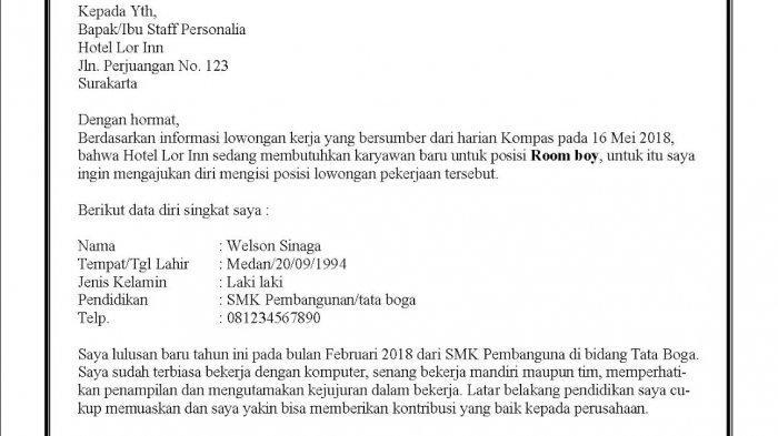 Surat Lamaran Kerja 2