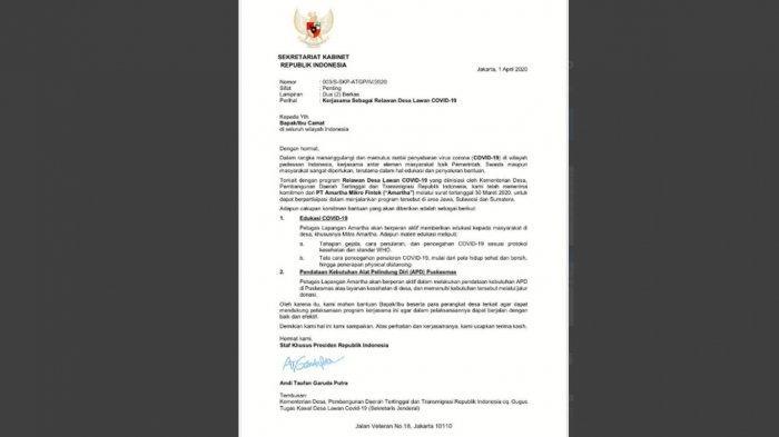 Heboh Surati Camat Minta Dukungan,Staf Khusus Andi Taufan Garuda Sampaikan Maaf