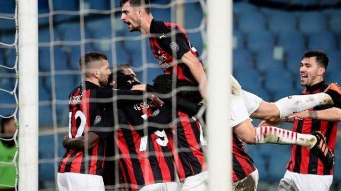 Hasil Liga Italia Tadi Malam Sampdoria Vs AC Milan, Kemenangan Rossoneri Diwarnai Rekor Baru