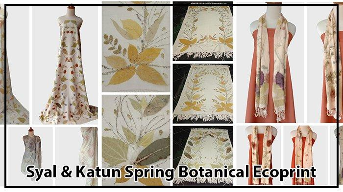 Fivin Yuli Astuti: Syal & Katun Spring Botanical Ecoprint