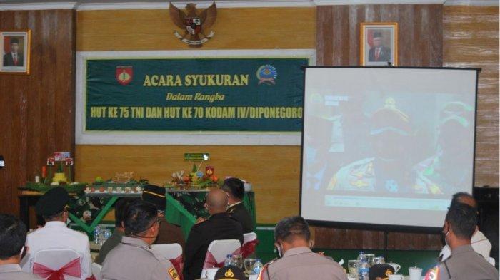 Syukuran HUT Ke-75 TNI, Dandim Demak Ucapkan Selamat Ulang Tahun dan Kejutan untuk Kapolres