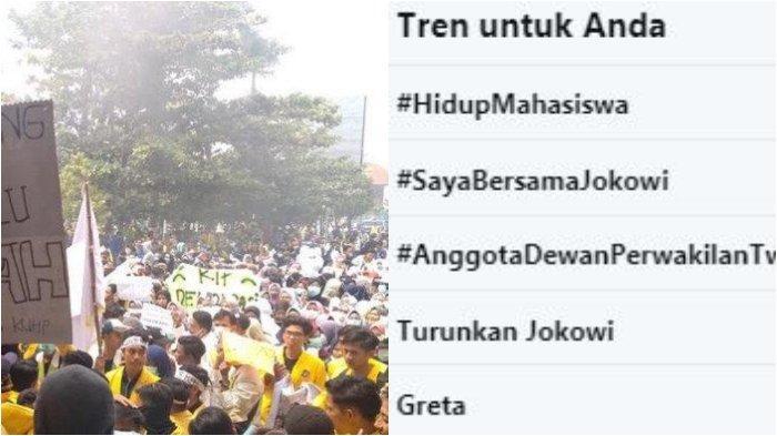 Tagar Hidup Mahasiswa Trending Twitter, Inilah Video Aksi Mahasiswa di Berbagai daerah