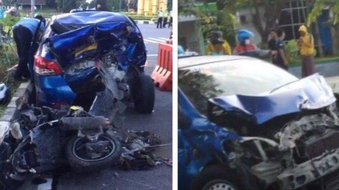 Kecelakaan Beruntun di Bundaran Untan Pontianak Pagi Tadi 1 Meninggal