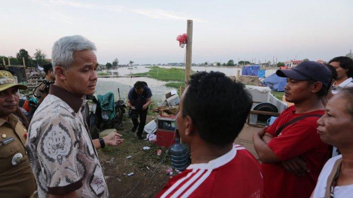 Ganjar Pranowo Pastikan Hunian Sementara Warga Tambakrejo Selesai Lima Minggu ke Depan