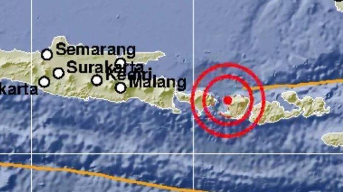 Info Gempa Hari Ini:Lombok Kembali Diguncang Gempa 5.7 SR Pukul 09.02 Wita Tadi