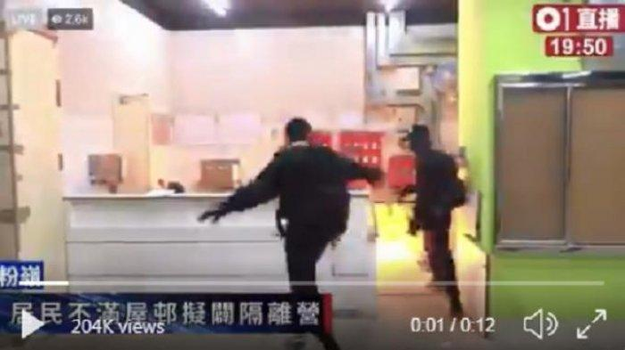 Gedung Karantina Pasien Virus Corona Dirusak Warga Hong Kong