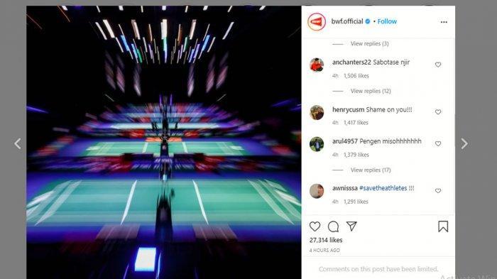 Diserang Netizen Indonesia Akun Instagram BWF Tutup Komentar, All England 2021 Trending