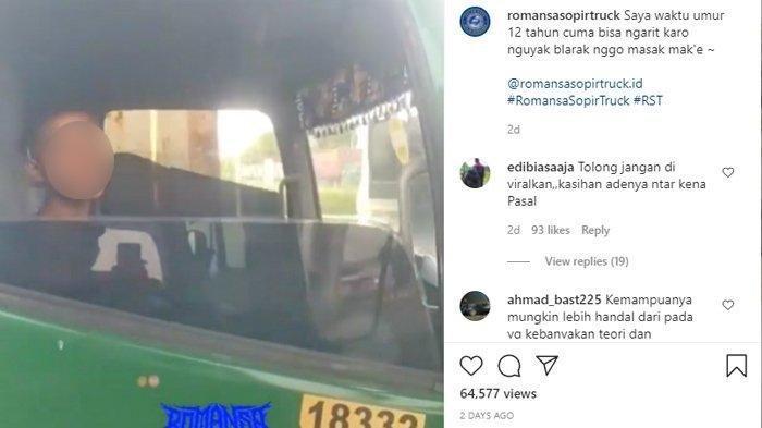 Viral Bocah 12 Tahun Merokok Sopiri Trailer Ditangkap Polisi, Ini Reaksi Asosiasi Pengusaha Truk