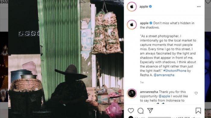 Kisah Fotografer Asal Semarang Hasil Karyanya Foto Pedagang Kerupuk Rambak Diunggah Instagram Apple