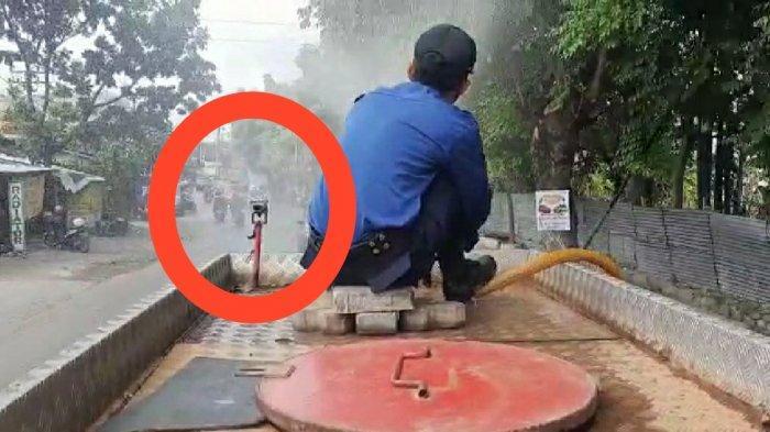 Gara-gara Damkar Semprot Disinfektan, Pemotor Alami Kecelakaan, Ini Jawaban Damkar Kota Semarang