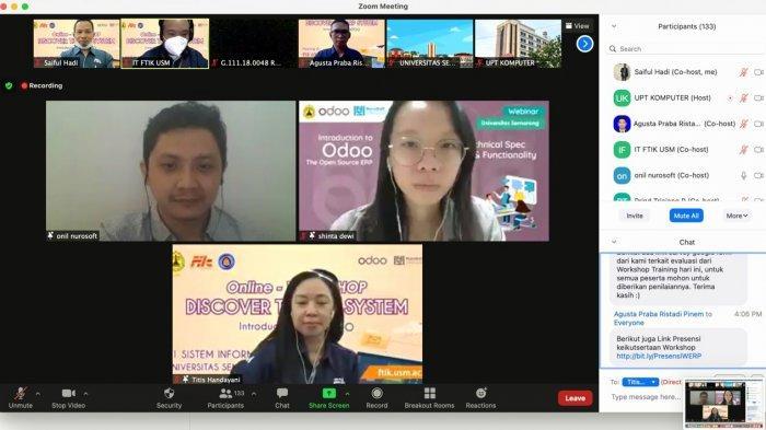 USM Semarang Gelar Workshop ERP Melalui Daring