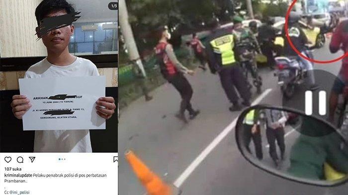 Tangkapan layar sosok penabrak Polisi dan terobos penyekatan di Klaten.