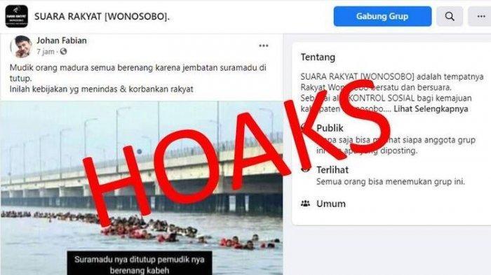Hoaks Pemudik Berenang di Bawah Jembatan Suramadu, Fakta: Prajurit TNI AL Latihan diSelat Madura