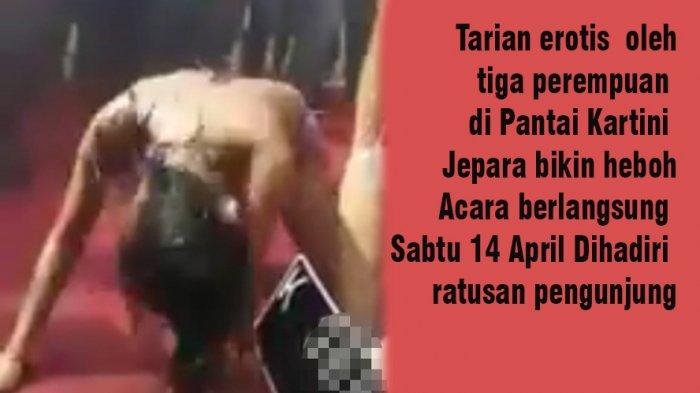 Viral di Medsos, Tarian Erotis di Pantai Kartini Jepara Dikecam Netizen