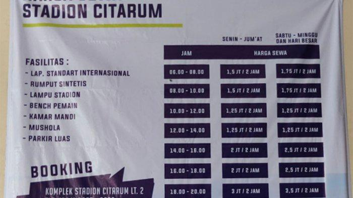Tarif Sewa Stadion Citarum Akhir Pekan Melonjak Jadi Segini