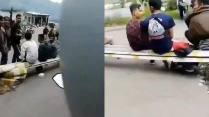 Viral 2 wanita jatuh dari motor sesuai teriak tarik sis