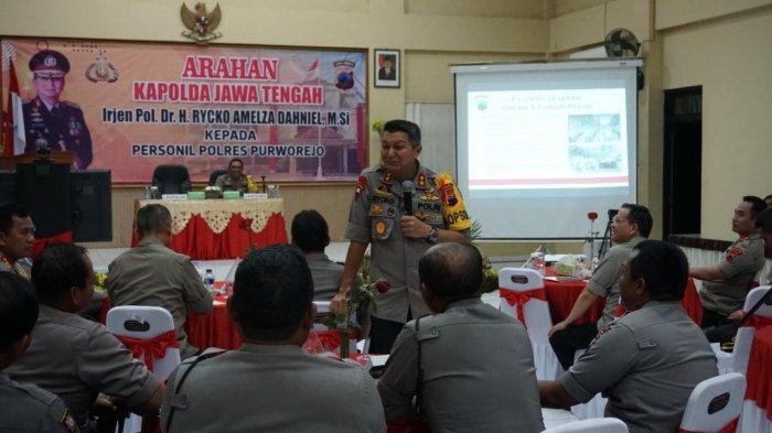 Di Polres Purworejo Irjen Rycko Tegaskan Hukuman Berat Bagi Anggota Polri yang Bermain Narkoba
