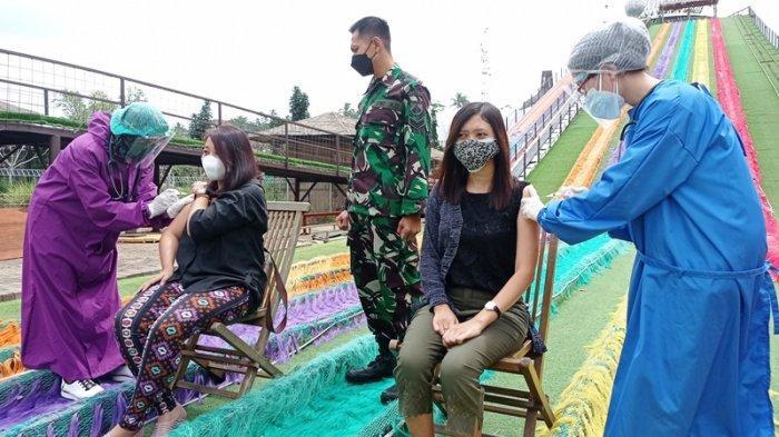 Ratusan Mitra UMKM di Dusun Semilir Terima Vaksinasi Covid-19