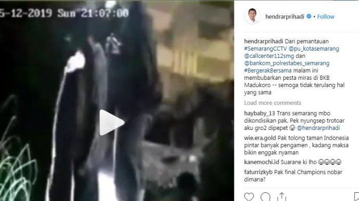 Video Detik-detik Remaja Pacaran dan Pesta Miras Tepergok CCTV Wali Kota Hendi, Lalu Dibubarkan