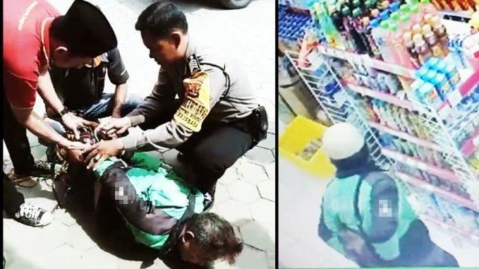 Driver Ojek Online Gadungan Terekam CCTV Ngutil Barang di Alfamart, Saat Ditangkap Melawan