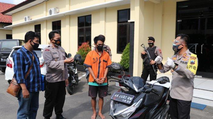 Warga Banjarnegara Ini Gadaikan Sepeda Motor Rental, Nasibnya Berujung di Sel Tahanan Polres Kebumen
