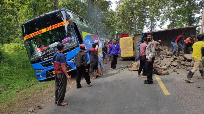 Truk Bobok di Jalan Nasional Blora-Cepu Akibatkan Macet 6 Kilometer