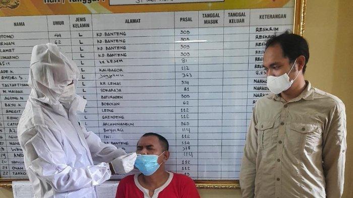 Tahanan Polresta Banyumas Di-Swab Antigen, Hasilnya Sebagai Berikut