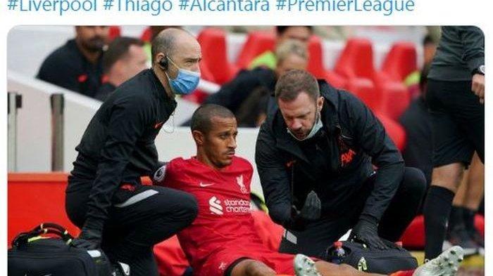 Gelandang Liverpool Thiago Cedera, Dipastikan Bakal Absen Dua Laga