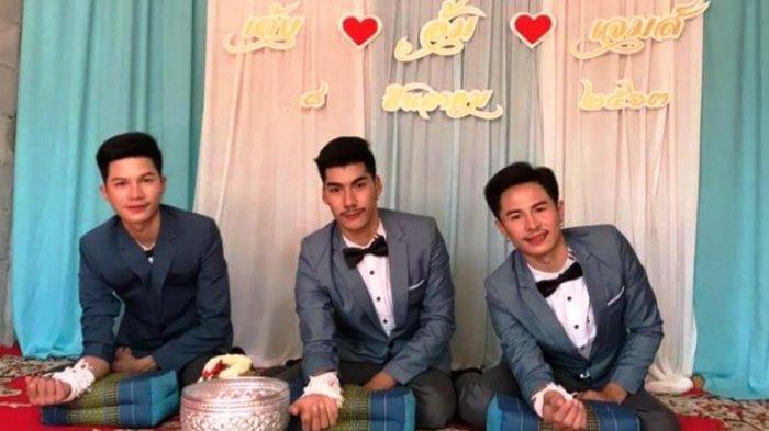 Viral Pernikahan Tiga Pria Berjanji Sehidup Semati Jalani Rumah Tangga