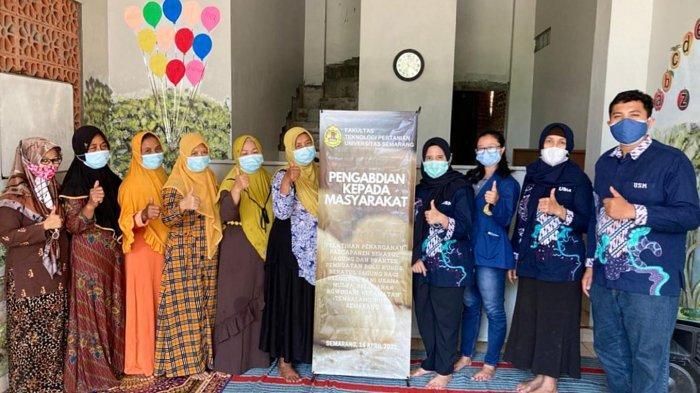 Tim FTP USM Semarang Berikan Pelatihan Penanganan Pascapanen Bekatul Jagung
