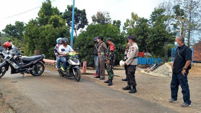 Aparat Lakukan Pembatasan Pengunjung di Waduk Seloromo Pati Untuk Cegah Kerumunan
