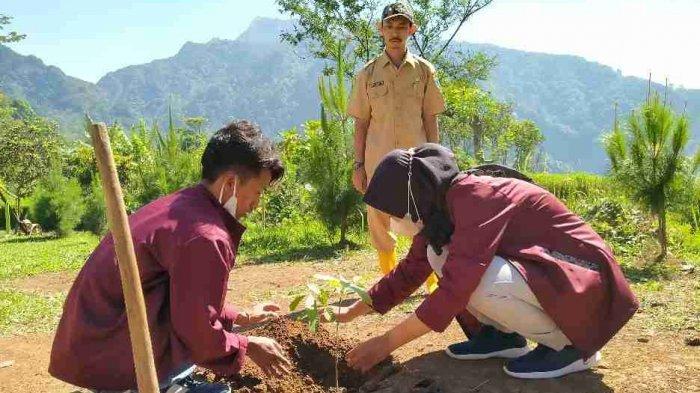 Tim KKN-IK IAIN Kudus Desa Ternadi 2 Tanam 500 Bibit Pohon di Wana Wisata