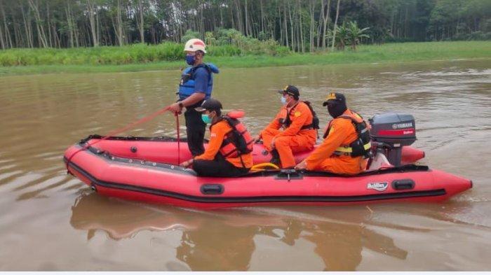 Pencarian Didik Terkendala Arus Sungai yang Deras