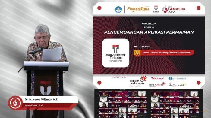 Tim Yakut ITTP Purwokerto Juara 1 Gemastik XIV Kategori Pengembangan Aplikasi Permainan