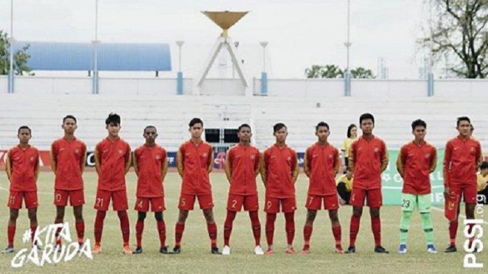 Mulai Sedang Berlangsung, Video Live Streaming Timnas Indonesia Vs Laos Piala AFF U-18 2019