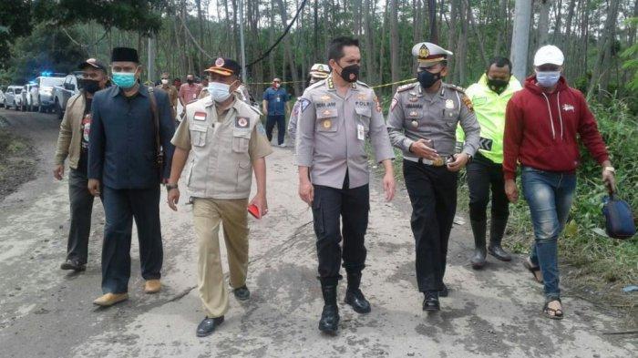 Kombes Pol Indra Jafar Tinjau Lokasi Jalan Ambles di Clirit View dan Kalibakung Kabupaten Tegal