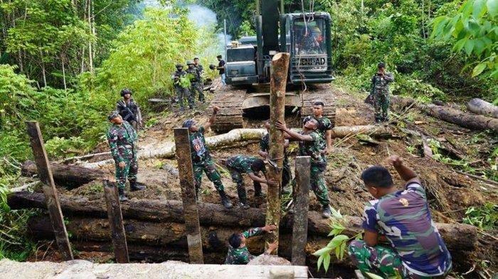 Jembatan Maybrat Dirusak KKB Papua, Pangdam I Nyoman Cantiasa Terjunkan Pasukan TNI
