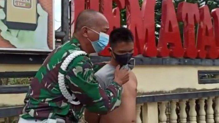 Anggota TNI Menangis di Depan Kantor Polisi, Perlihatkan Tangan Kiri Anaknya Putus