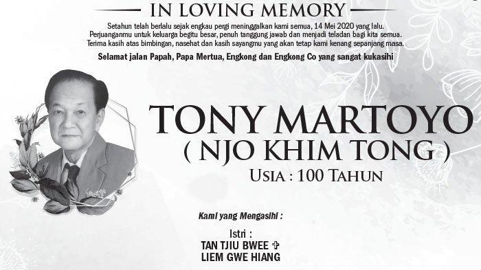 In Loving Memory, Tony Martoyo (Njo Khim Tong)