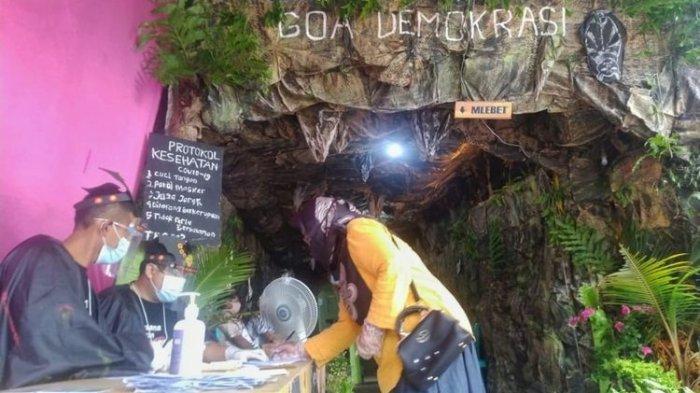 Goa Demokrasi Lamuk Purbalingga, TPS Unik di Pilkada Purbalingga