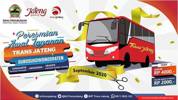 Peresmian Awal Layanan Angkutan Aglomerasi Trans Jateng Koridor 1 SUBOSUKOWONOSRATEN