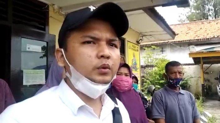 Tri Budi Utomo, perwakilan keluarga Suharto, saat ditemui awak media di Mapolsek Petarukan, Sabtu (13/3/2021).