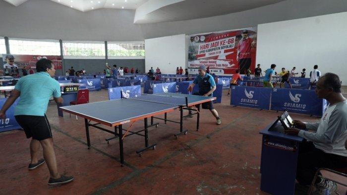 Turnamen Tenis Meja se-Jawa Tengah Meriahkan HUT 68 DPRD Boyolali
