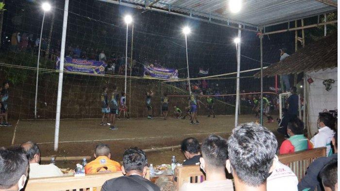 Masyarakat Rindu Olahraga, Turnamen Voli Digelar di Tengah Pandemi di Banjarnegara